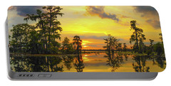 Panorama The Yellow Sunset Of Louisiana  Portable Battery Charger