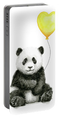 Panda Baby With Yellow Balloon Portable Battery Charger
