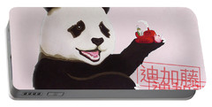 Panda Joy Pink Portable Battery Charger