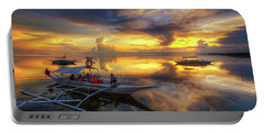Portable Battery Charger featuring the photograph Panglao Port Sunset 10.0 by Yhun Suarez
