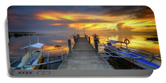 Portable Battery Charger featuring the photograph Panglao Port Sunset 8.0 by Yhun Suarez