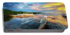 Portable Battery Charger featuring the photograph Panglao Port Sunset 9.0 by Yhun Suarez