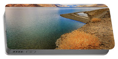 Portable Battery Charger featuring the photograph Pangong Tso Lake by Alexey Stiop