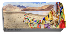 Portable Battery Charger featuring the photograph Pangong Tso Lkae by Alexey Stiop