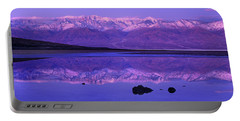 Portable Battery Charger featuring the photograph Panorama Badwater And The Panamint Range At Sunrise Death Valley by Dave Welling