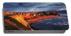 Panorama Of Aixerrota Sunset Portable Battery Charger