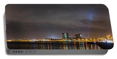 Panorama Of Reykjavik Iceland Portable Battery Charger by Joe Belanger