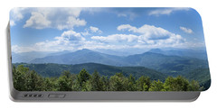 Panorama Of The Foothills Of The Pyrenees In Biert Portable Battery Charger by Semmick Photo