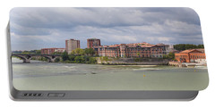 Panorama Of The Hydroelectric Power Station In Toulouse Portable Battery Charger by Semmick Photo