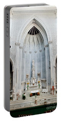 Panorama Of The Main Altar Of St. John The Evangalist Roman Catholic Church Schenectady Portable Battery Charger