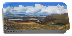 Panorama Of Valleys And Mountains In County Kerry On A Summer Da Portable Battery Charger by Semmick Photo