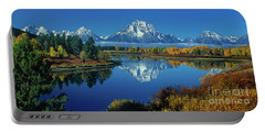 Panorama Oxbow Bend Grand Tetons National Park Wyoming Portable Battery Charger
