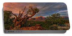 Portable Battery Charger featuring the photograph Panorama Storm Back Of Zion Near Hurricane Utah by Dave Welling