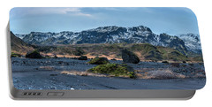 Panorama View Of An Icelandic Mountain Range Portable Battery Charger by Joe Belanger