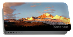 Panorama View Of Longs Peak At Sunrise Portable Battery Charger by Ronda Kimbrow