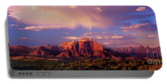Panorama West Temple At Sunset Zion Natonal Park Portable Battery Charger