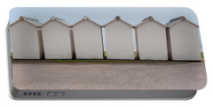 Panoramic Beach Huts Portable Battery Charger by Helen Northcott