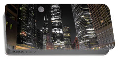 Panoramic Lakefront View In Chicago Portable Battery Charger by Frozen in Time Fine Art Photography