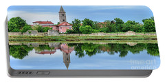 Panoramic Reflections Of Nin, Croatia Portable Battery Charger