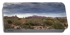 Panoramic View At Arches National Park Portable Battery Charger
