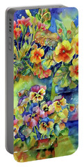 Pansies And Primroses Portable Battery Charger