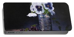 Pansies In A Can Portable Battery Charger