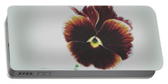 Pansy Face Portable Battery Charger by Karen Stahlros