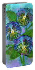 Pansy On Water Portable Battery Charger