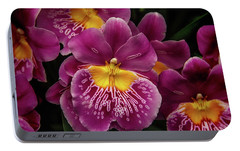 Pansy Orchid Portable Battery Charger by Garry Gay