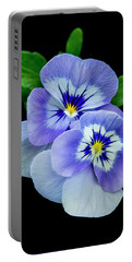 Pansy Portrait Portable Battery Charger