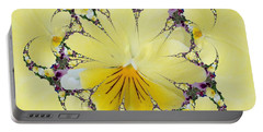Pansy Swirls Portable Battery Charger