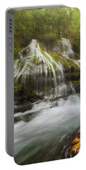 Panther Creek Falls In Fall Season Portable Battery Charger