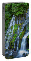 Panther Creek Falls Summer Waterfall 1 Portable Battery Charger