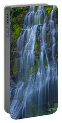 Panther Creek Falls Summer Waterfall -close 2 Portable Battery Charger