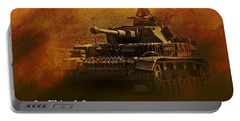 Portable Battery Charger featuring the digital art Panzer 4 Ausf G by John Wills