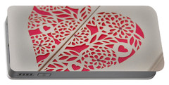 Paper Cut Heart Portable Battery Charger