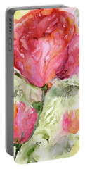 Paper Flowers Portable Battery Charger