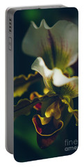 Portable Battery Charger featuring the photograph Paphiopedilum Villosum Orchid Lady Slipper by Sharon Mau