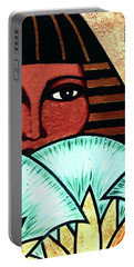 Papyrus Girl Portable Battery Charger by Tara Hutton