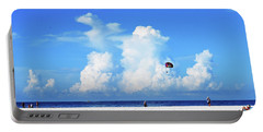 Portable Battery Charger featuring the photograph Para Sailing On Siesta Key by Gary Wonning