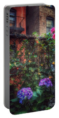 Portable Battery Charger featuring the photograph Paradise By The Backyard Gate - City Garden by Miriam Danar