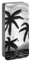 Paradise In Black And White Portable Battery Charger
