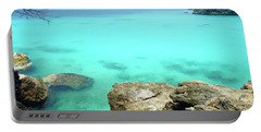 Portable Battery Charger featuring the photograph Paradise Island, Curacao by Kurt Van Wagner