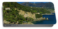 Paraggi Bay Castle And Liguria Mountains Portofino Park  Portable Battery Charger