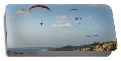 Paragliders At Torrey Pines Gliderport Over Black's Beach Portable Battery Charger