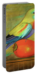 Parakeet On A Persimmon Portable Battery Charger