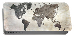 Parchment World Map Portable Battery Charger