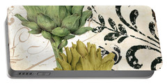 Paris Artichokes Portable Battery Charger by Mindy Sommers
