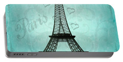 Paris Collage Portable Battery Charger by Jim And Emily Bush