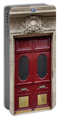 Portable Battery Charger featuring the photograph Paris Doors No. 17 - Paris, France by Melanie Alexandra Price